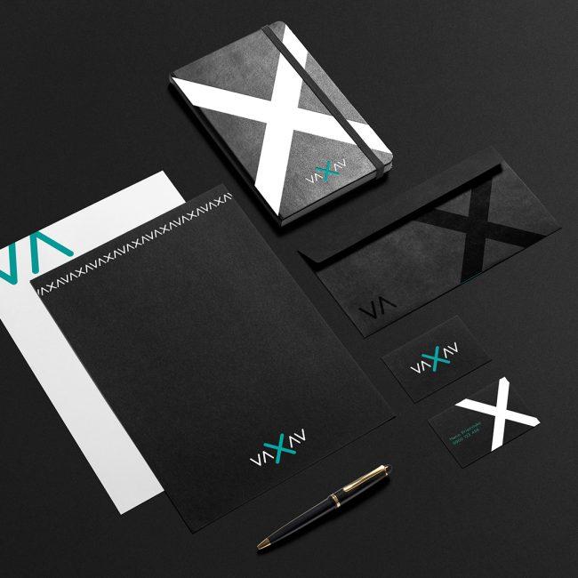 VAXAV brand identity